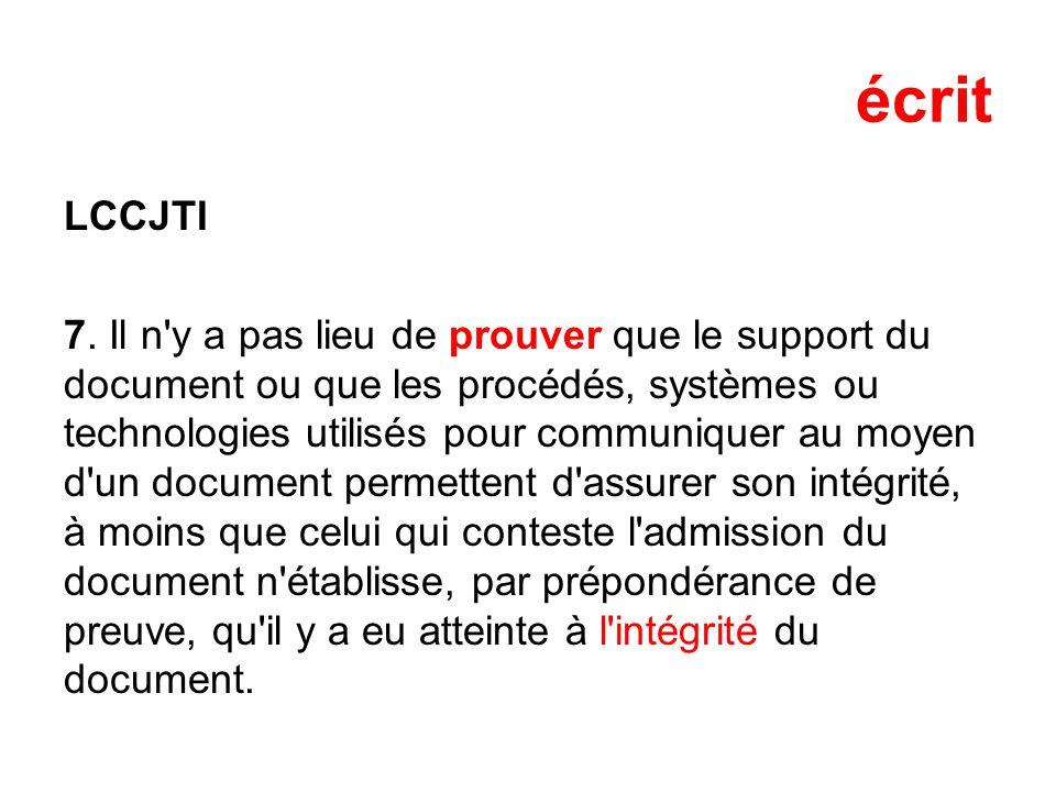écrit LCCJTI 7.