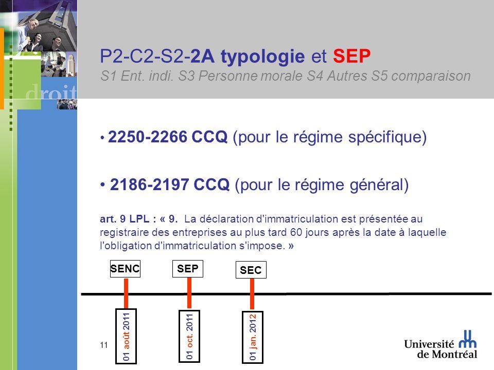 11 P2-C2-S2-2A typologie et SEP S1 Ent. indi.