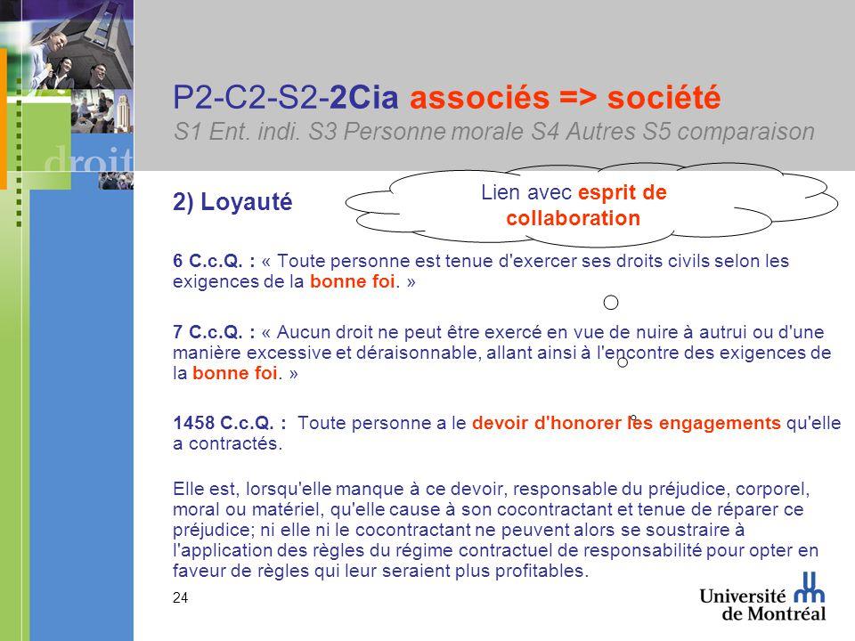 24 P2-C2-S2-2Cia associés => société S1 Ent. indi.