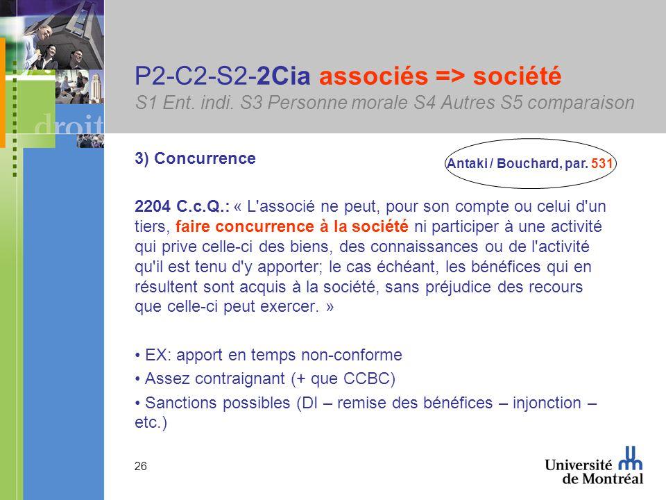 26 P2-C2-S2-2Cia associés => société S1 Ent. indi.