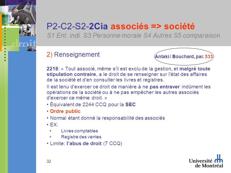 32 P2-C2-S2-2Cia associés => société S1 Ent. indi.