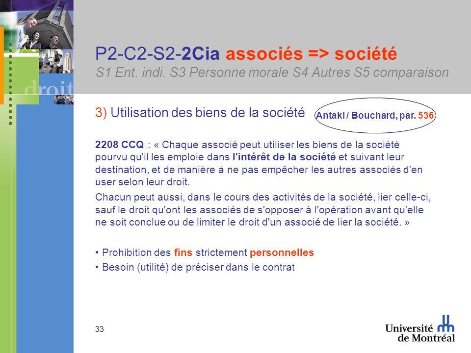 33 P2-C2-S2-2Cia associés => société S1 Ent. indi.
