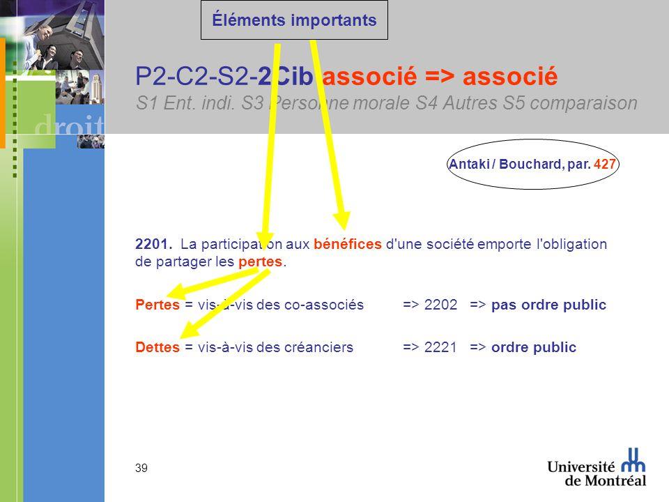 39 P2-C2-S2-2Cib associé => associé S1 Ent. indi.