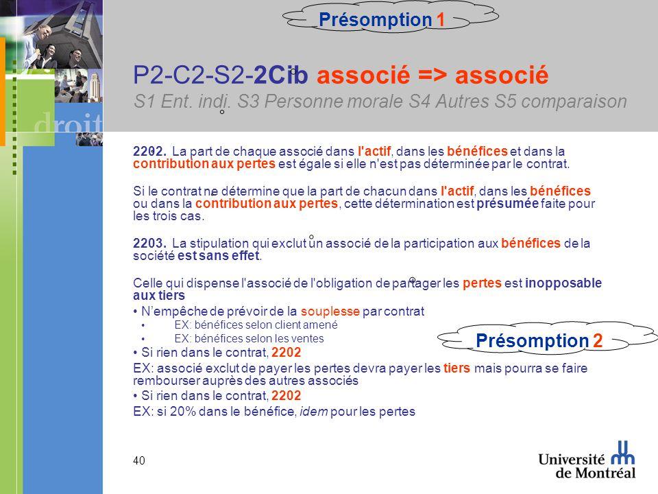 40 P2-C2-S2-2Cib associé => associé S1 Ent. indi.