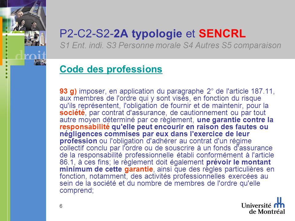 6 P2-C2-S2-2A typologie et SENCRL S1 Ent. indi.