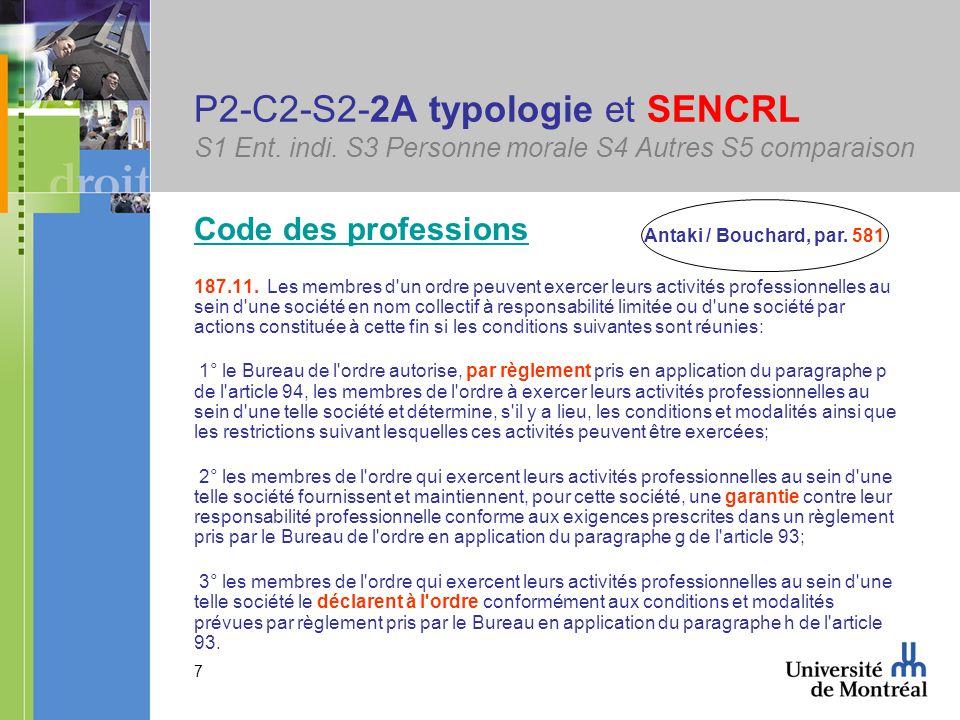 38 P2-C2-S2-2Cib associé => associé S1 Ent.indi. S3 Personne morale S4 Autres S5 comparaison 2201.