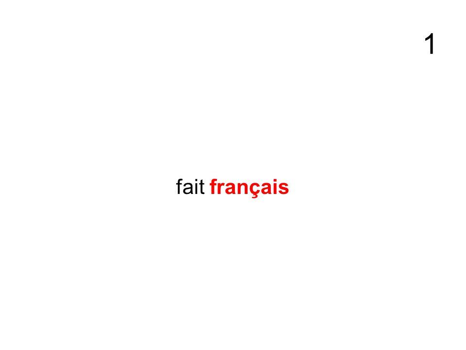 1 fait français