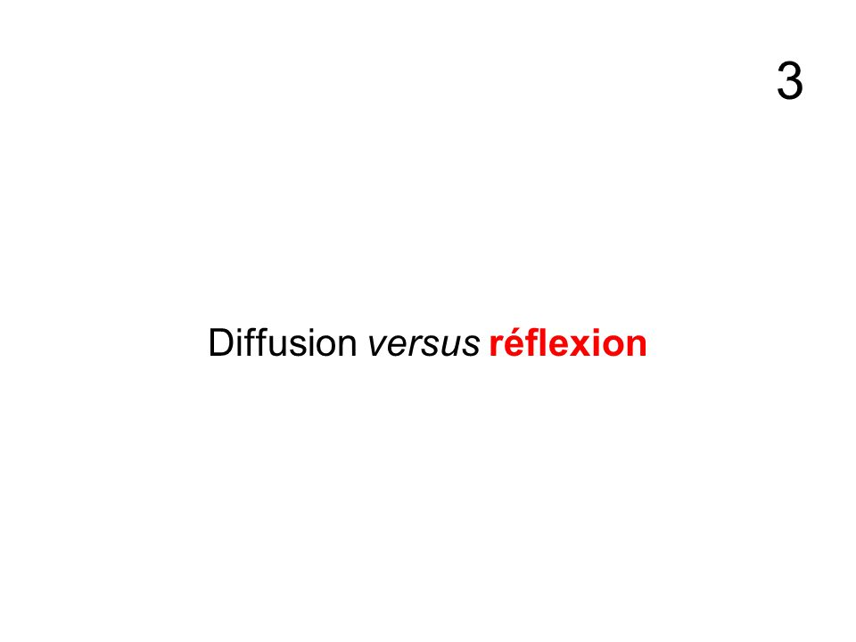 3 Diffusion versus réflexion