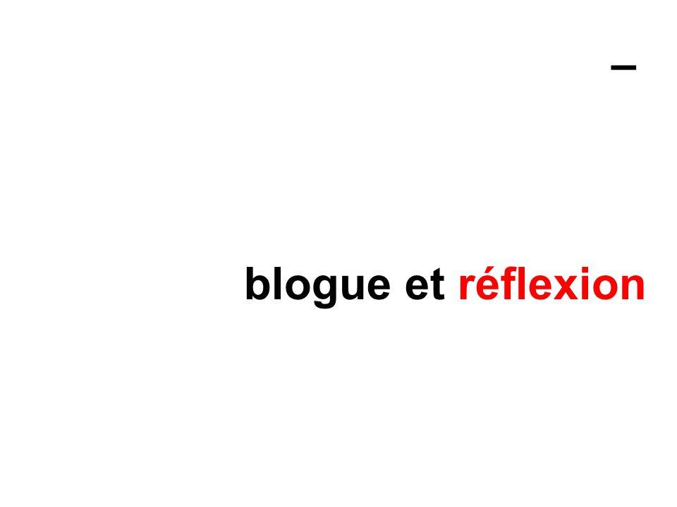 – blogue et réflexion