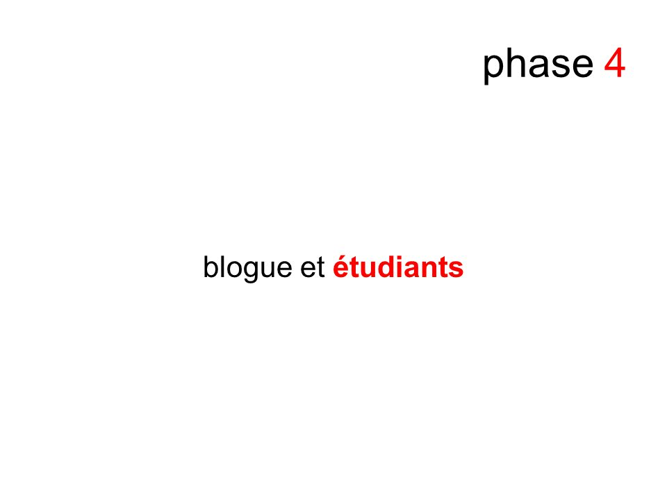 phase 4 blogue et étudiants