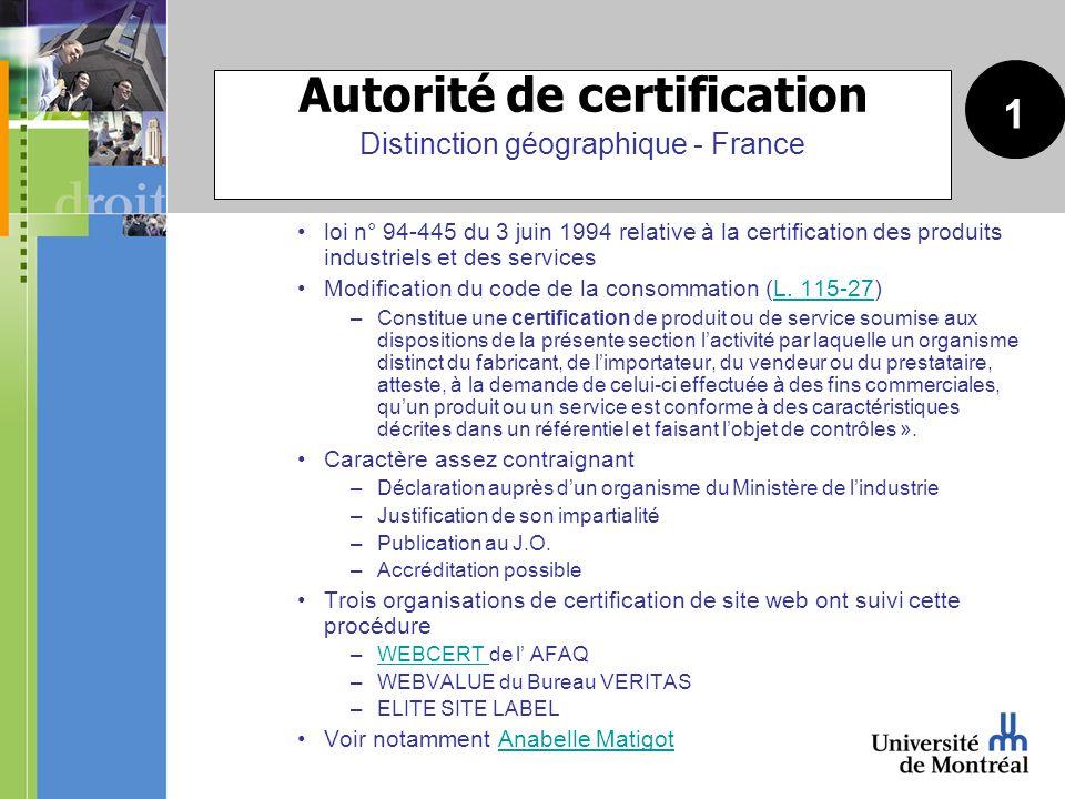 loi n° 94-445 du 3 juin 1994 relative à la certification des produits industriels et des services Modification du code de la consommation (L.