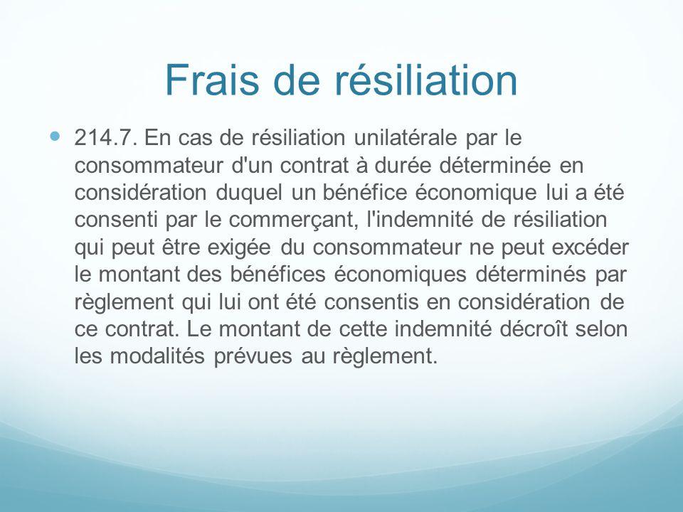 Frais de résiliation 214.7.