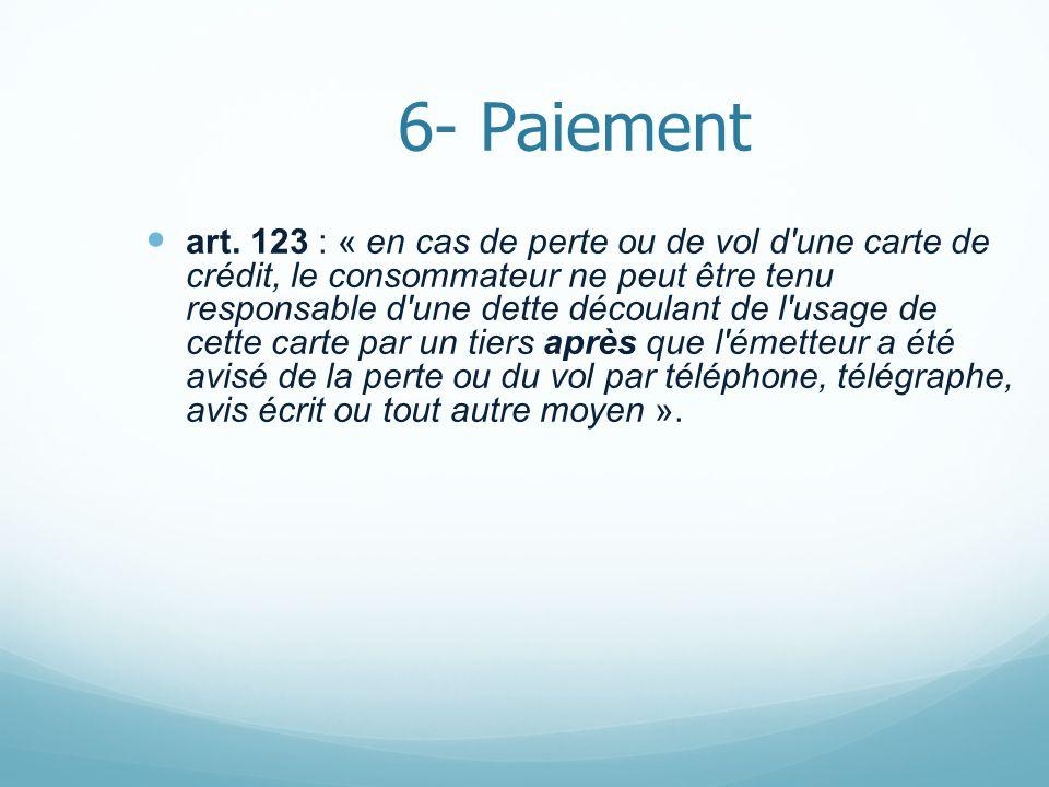 6- Paiement art.