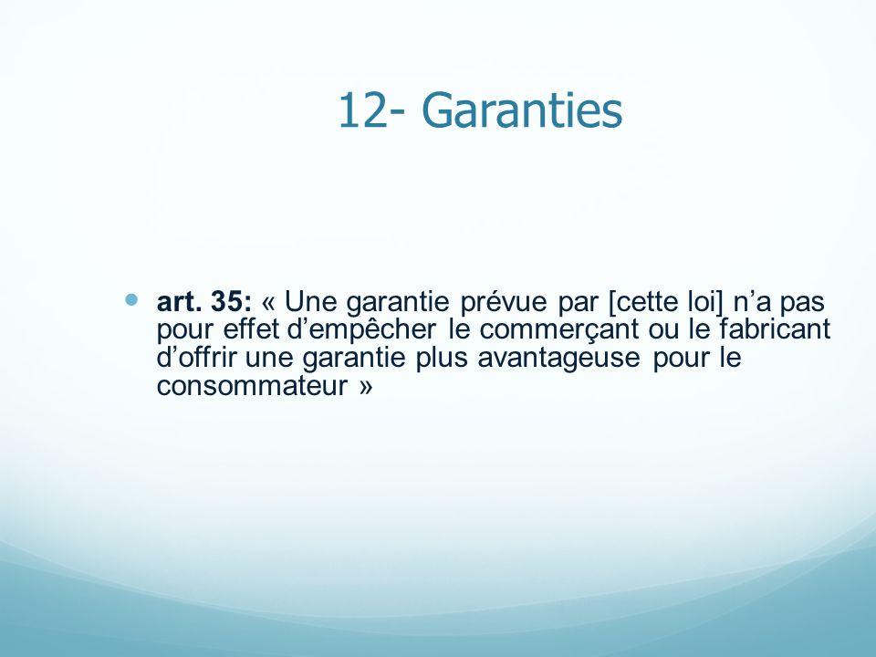 12- Garanties art.