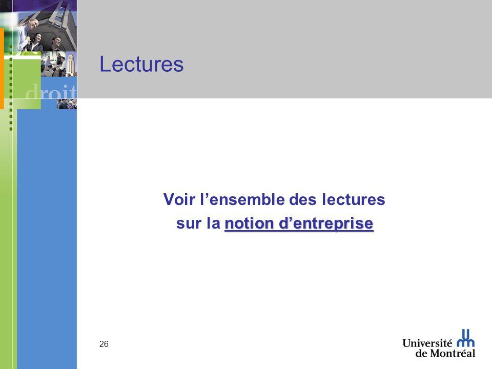 26 Lectures Voir lensemble des lectures notion dentreprise sur la notion dentreprise