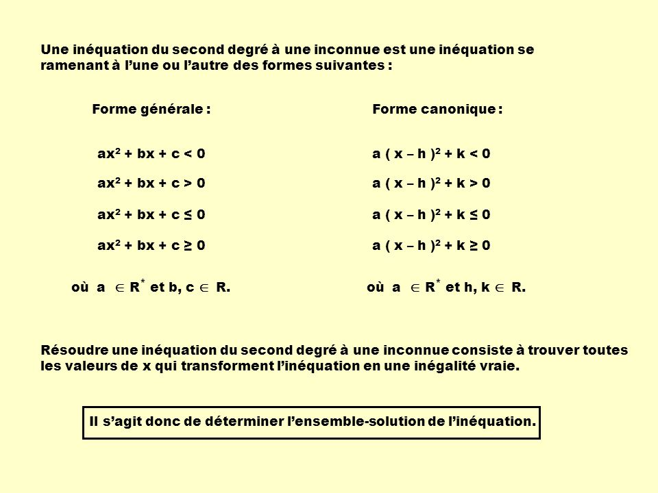 Exemple 1 :Détermine lensemble-solution de linéquation suivante.