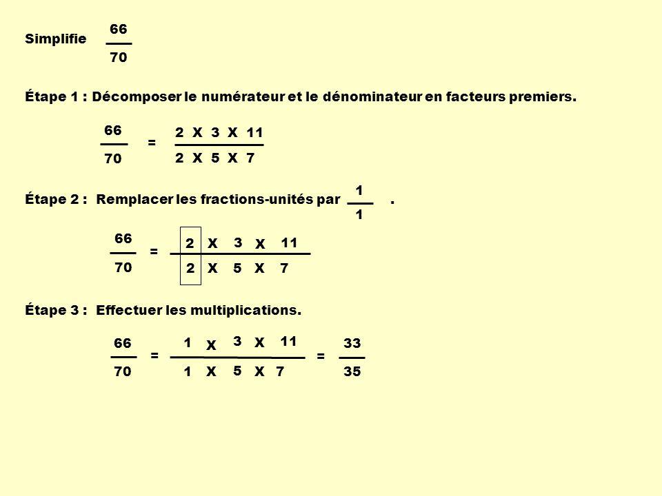 Simplifie 30 60 Décomposer le numérateur et le dénominateur en facteurs premiers.