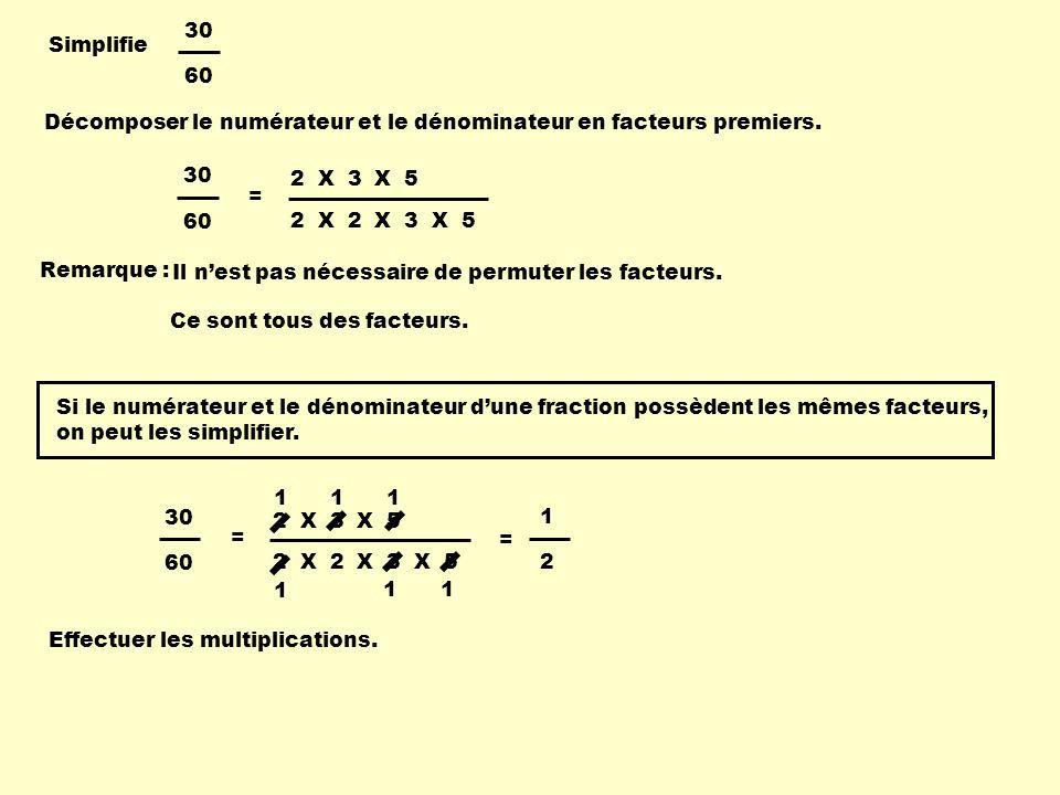 Simplifie 42 231 Décomposer le numérateur et le dénominateur en facteurs premiers.