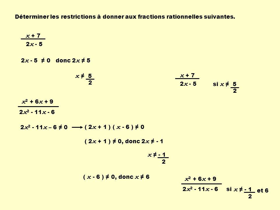 Les opérations avec les fractions rationnelles suivent les mêmes règles quavec les fractions numériques.
