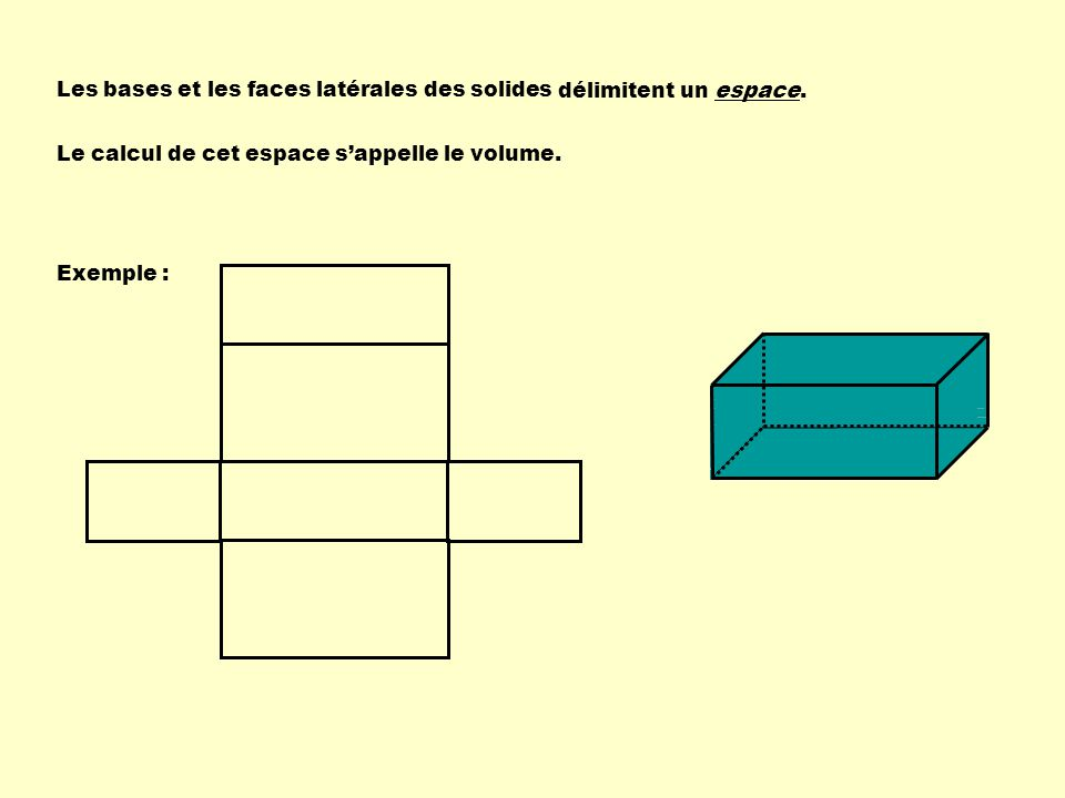 Exemple Calcule le volume de cette pyramide.