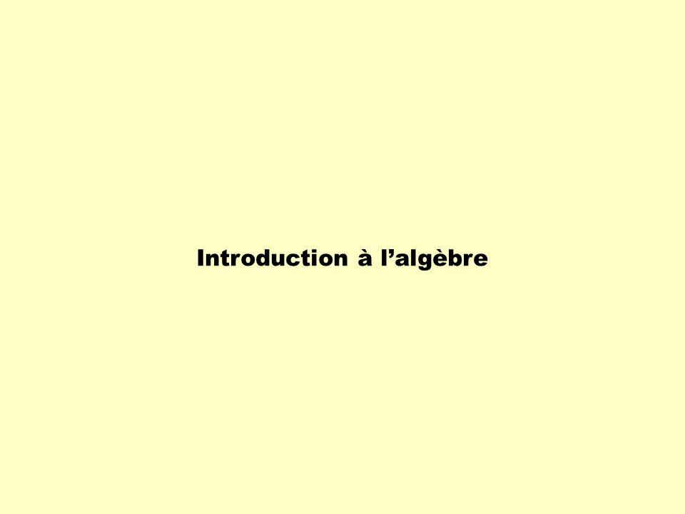 Introduction à lalgèbre