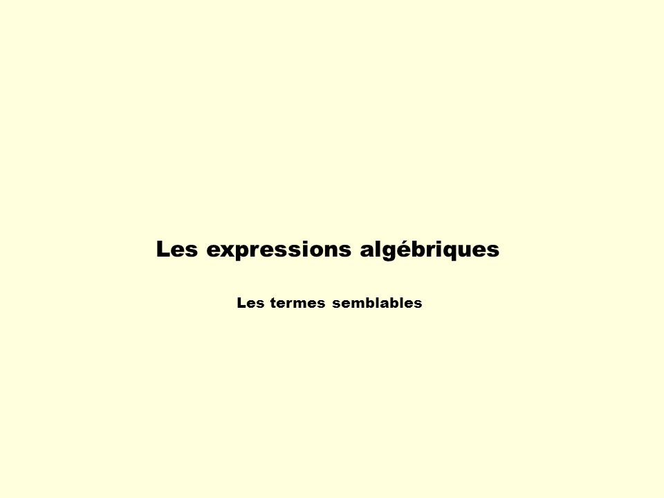 Lalgèbre est la partie des mathématiques qui a pour but deffectuer aisément des raisonnements généraux et dénoncer des règles générales au moyen de symboles, de lettres et de nombres algébriques.