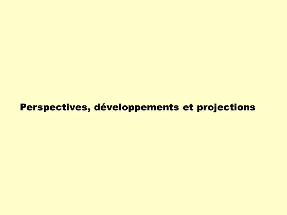 Perspectives, développements et projections