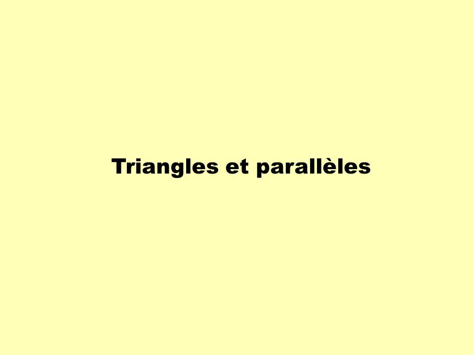 Théorème 1 :Toute droite sécante à deux côtés dun triangle et parallèle au troisième côté forme un petit triangle semblable au grand.