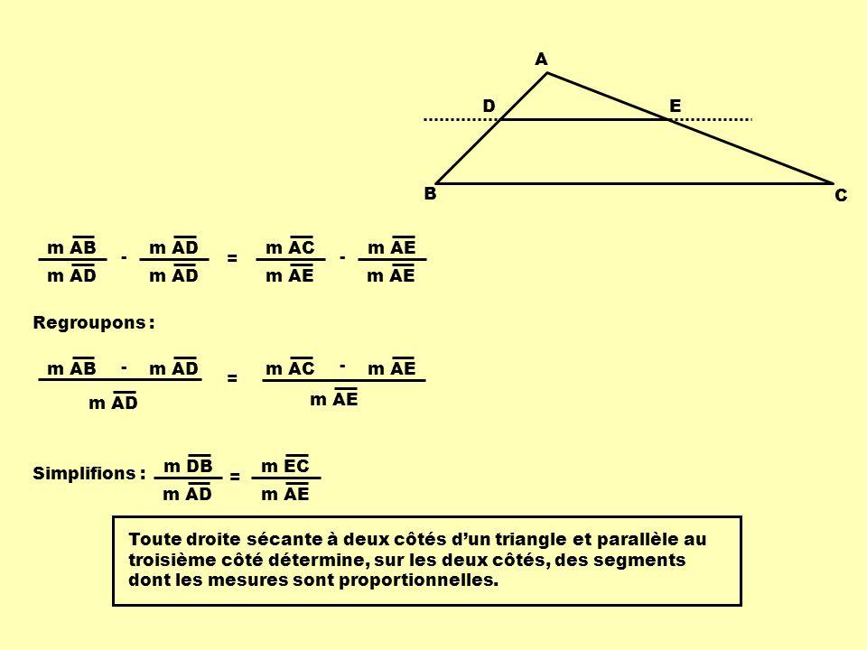 Application Quelle est la mesure du segment AC .