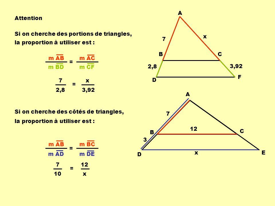 Théorème 3 :Des sécantes, coupées par des parallèles, sont partagées en segments de longueurs proportionnelles.