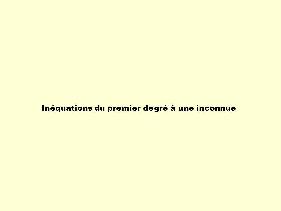 Inéquation Une inéquation est un énoncé mathématique comportant une ou des variables et un symbole dinégalité.