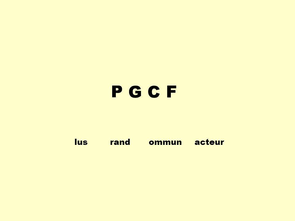 lusrand ommunacteur P GC FP GCF