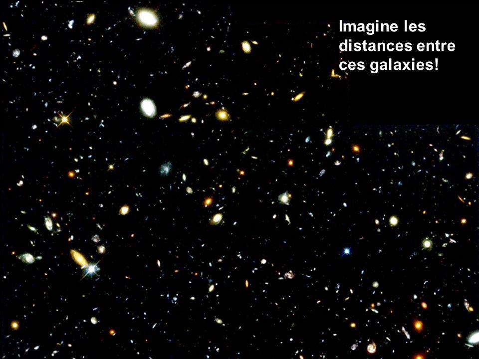 Imagine les distances entre ces galaxies!