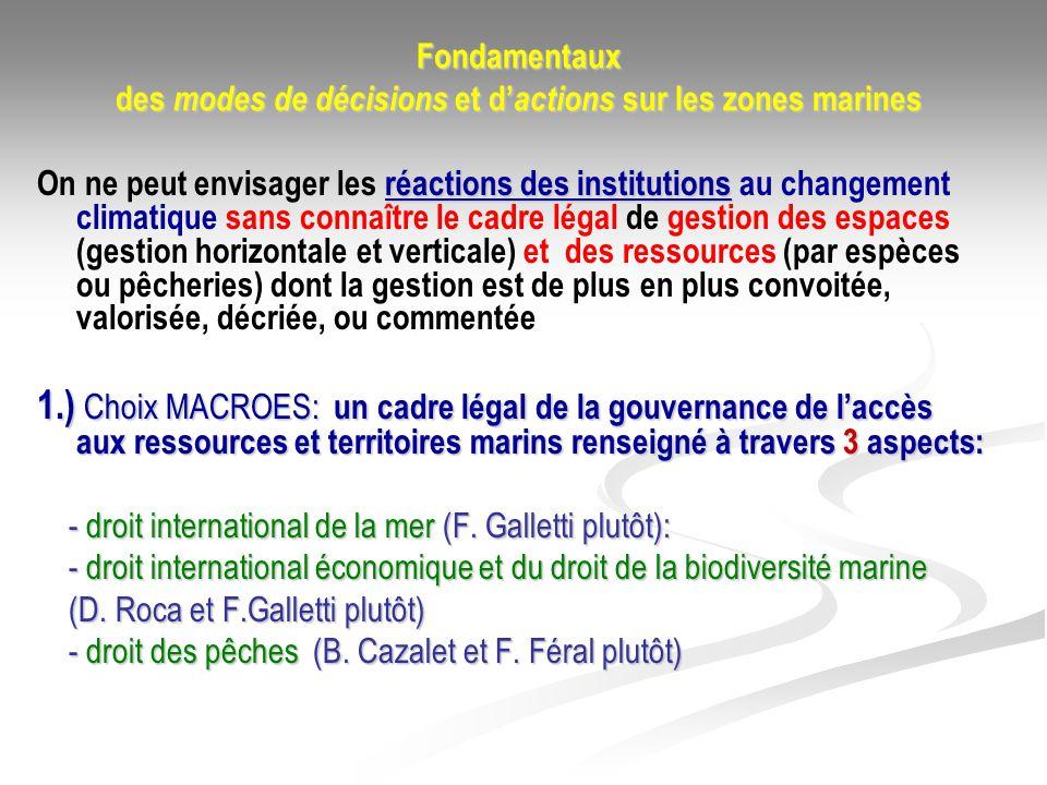 Fondamentaux des modes de décisions et d actions sur les zones marines réactions des institutions On ne peut envisager les réactions des institutions
