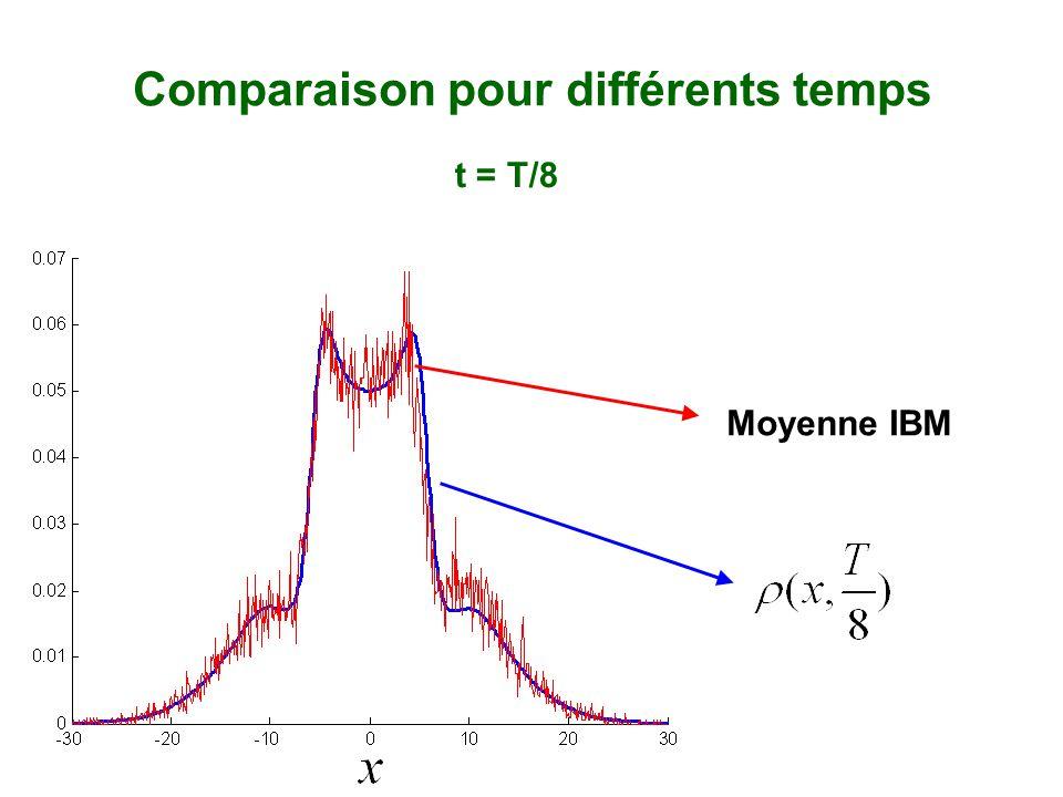 Moyenne IBM Comparaison pour différents temps t = T/8