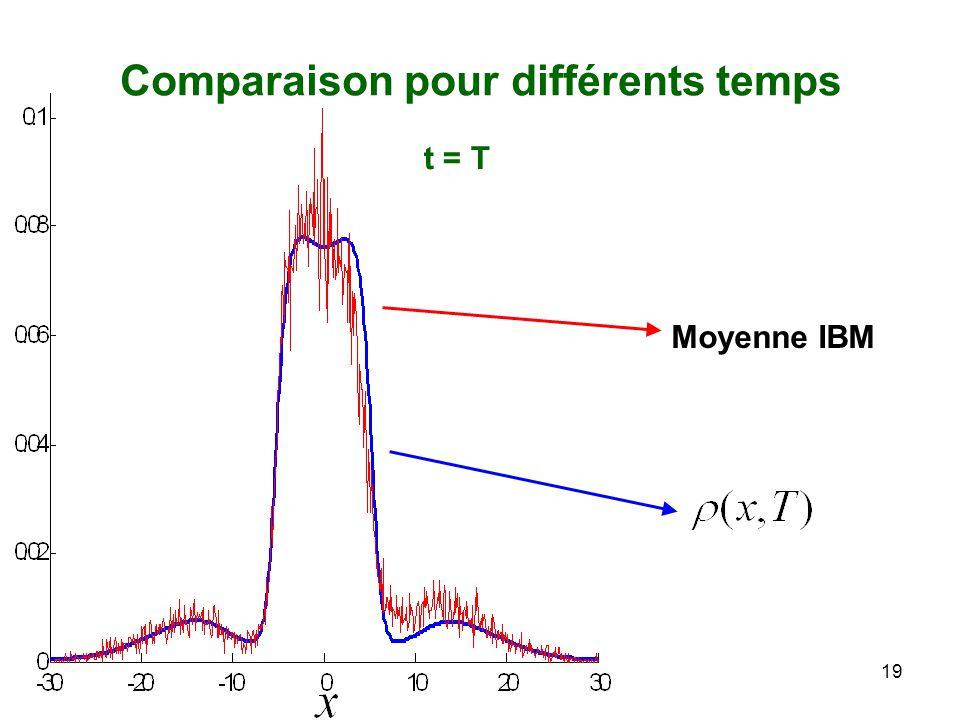 19 Moyenne IBM Comparaison pour différents temps t = T