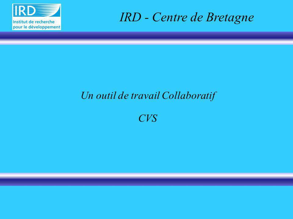Un outil de travail Collaboratif CVS IRD - Centre de Bretagne