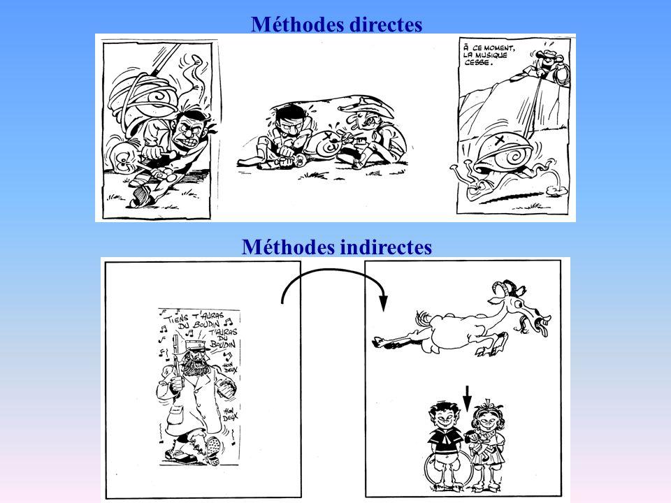 Méthodes indirectes Méthodes directes