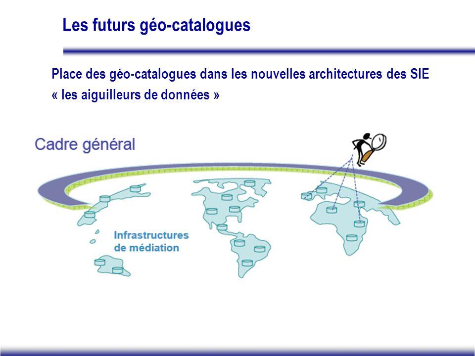 Les futurs géo-catalogues Place des géo-catalogues dans les nouvelles architectures des SIE « les aiguilleurs de données »