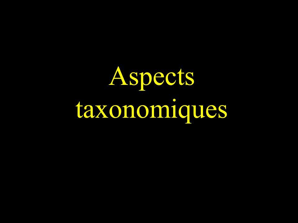 Aspects taxonomiques
