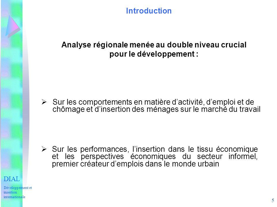 5 Introduction Sur les comportements en matière dactivité, demploi et de chômage et dinsertion des ménages sur le marché du travail Sur les performanc