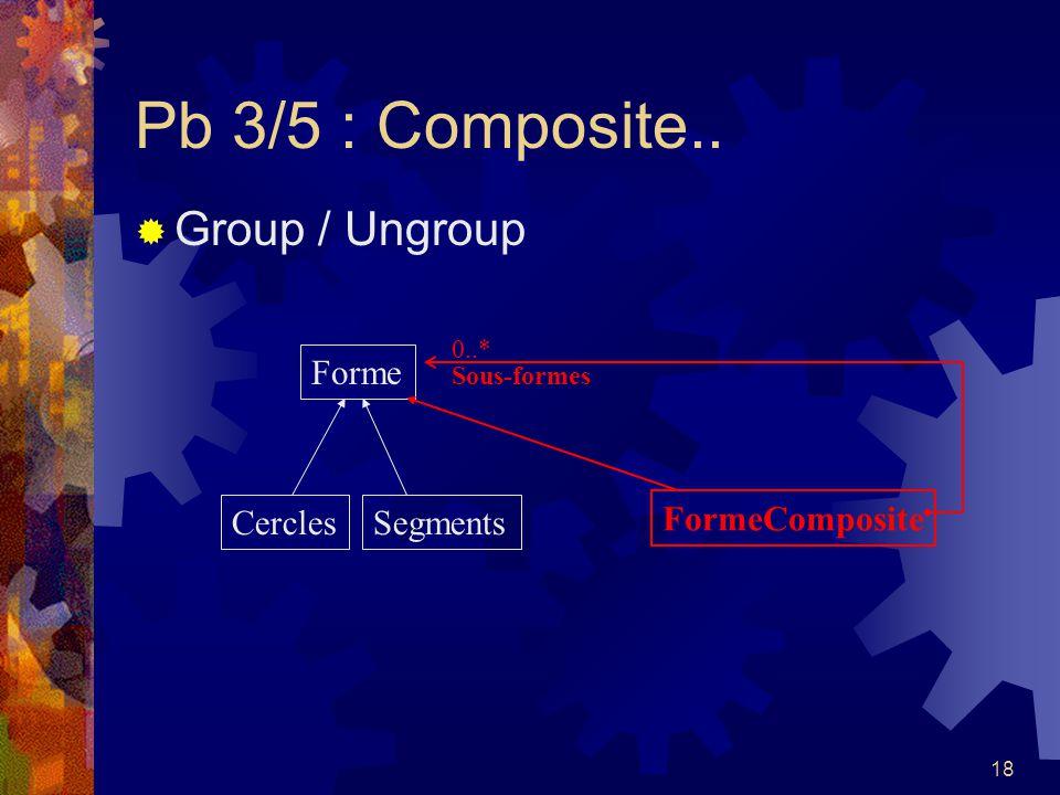 18 Pb 3/5 : Composite.. Group / Ungroup Forme CerclesSegments FormeComposite 0..* Sous-formes