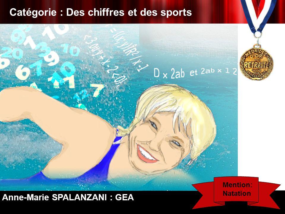 Catégorie : Des chiffres et des sports Anne-Marie SPALANZANI : GEA Mention: Natation