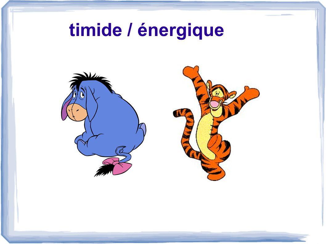 timide / énergique