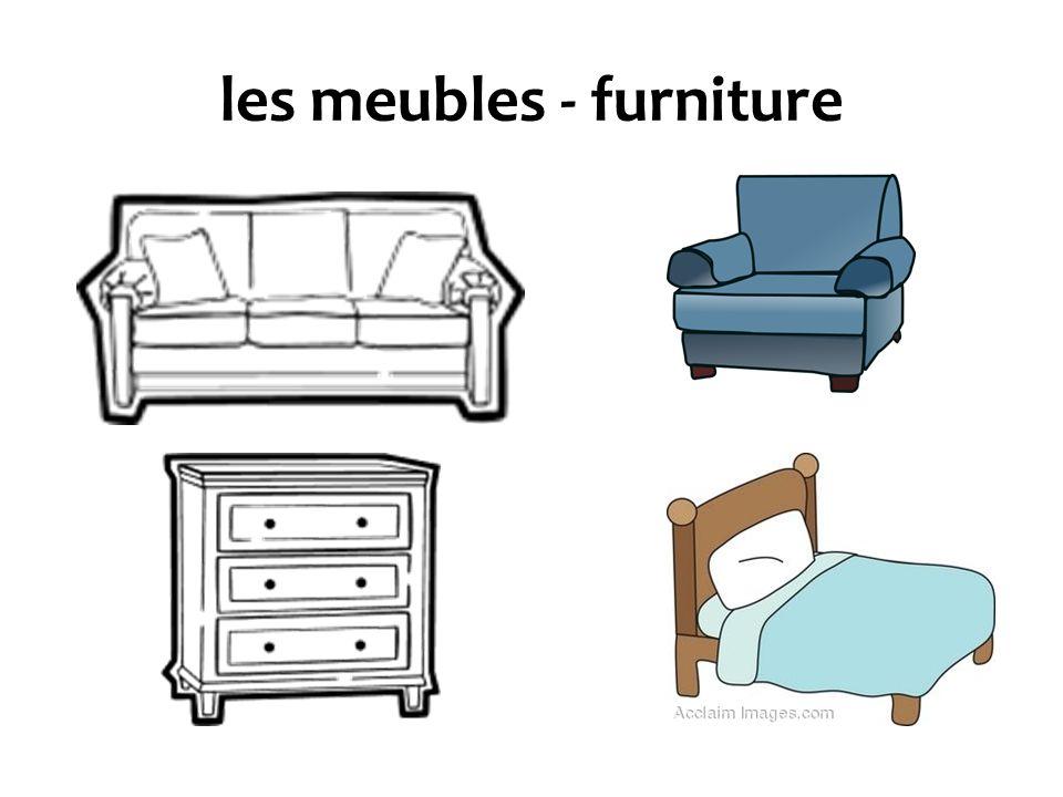 les meubles - furniture
