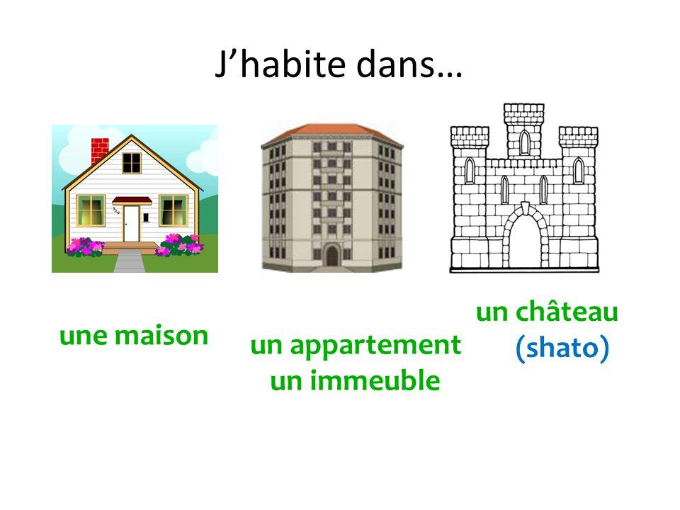 Jhabite dans… une maison un appartement un immeuble un château (shato)