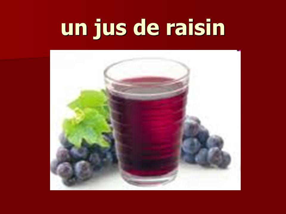 un jus de raisin