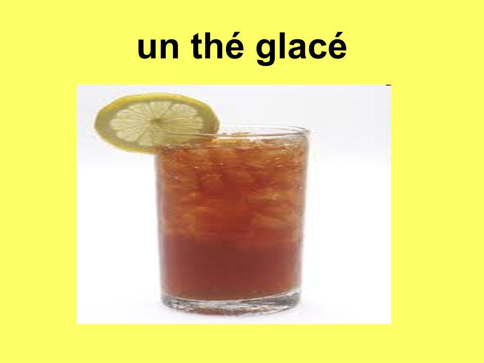 un thé glacé