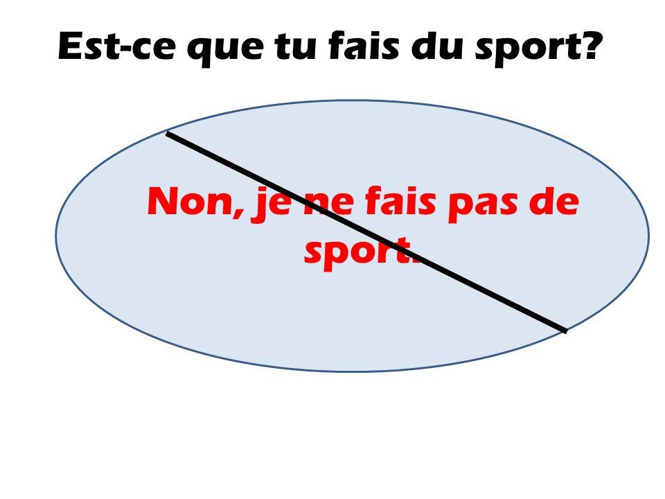Est-ce que tu fais du sport? Oui, je fais du jogging.je fais du skate(boarding).