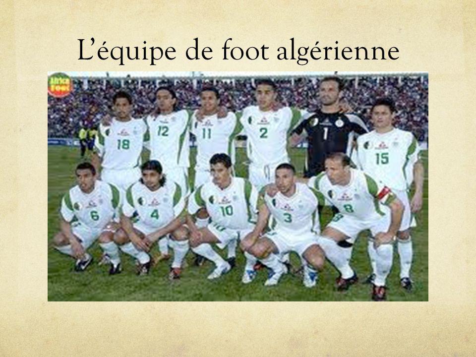 Léquipe de foot algérienne